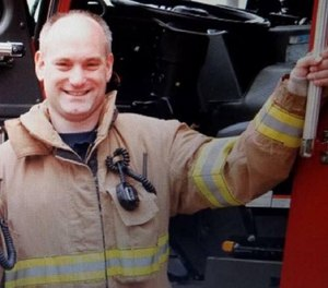 The village of Buffalo Grove is appealing to overturn full line-of-duty death pension benefits for the family of Firefighter Kevin Hauber, who died from colon cancer in 2018. (Photo/Buffalo Grove Professional Firefighters and Paramedics Local 3177 Facebook)