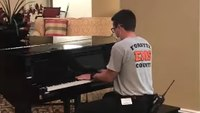 Watch: NC EMT plays piano for nursing home residents