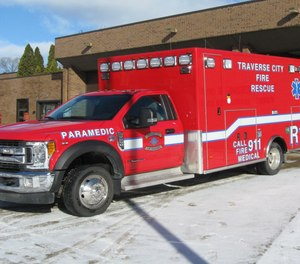 Traverse City firefighters said a fire department ambulance is transporting patients more frequently following a merger of the city's primary private ambulance provider.