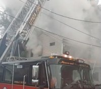 NY FF injured when stairway collapses at house fire