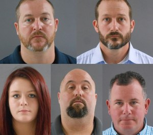 Five people were arrested and charged in relation to an alleged scheme to take over and steal from the Patriot Volunteer Fire Department, which has not been in operation since 2017. Clockwise from top left: Christopher See, Christopher Miller, Lewis Fritter, Jacob Parker and Caitlyn Staat. (Photo/Indiana State Police)