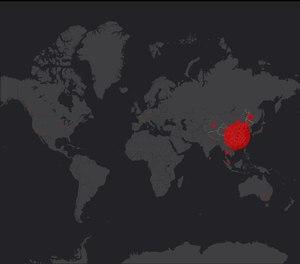 coronavirus on map live