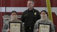 Calif. sisters, 15 and 17, use skills learned at FD camp to aid crash victims
