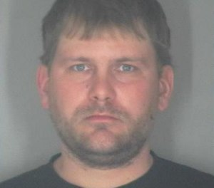 Corey A. Welch, 34, is accused of setting his deceased uncle's house on fire and then driving a fire truck to fight the blaze while intoxicated, two months after resigning from the fire department. (Photo/Shawano County Jail)