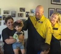2-year-old saved from choking reunites with flight paramedics