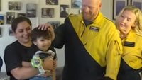 2-year-old saved from choking reunites with flight paramedics