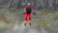 Watch: Medic uses jet suit to hover over mountains, water for rescue response