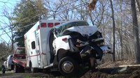 2 airlifted after Md. ambulance crash