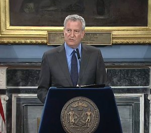 New York City Mayor Bill de Blasio announced Saturday that an FDNY firefighter stationed in Brooklyn has tested positive for novel coronavirus, or COVID-19. The FDNY is modifying firefighter and EMS shifts and has quarantined 31 of its members following the most recent case. (Photo/NYC Mayor's Office Facebook)