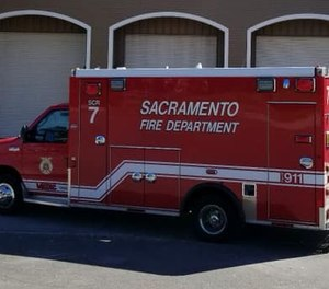 Sacramento Fire Department officials say a group of juveniles got inside an ambulance and started to drive it away before jumping out while it was still moving.