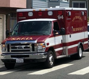 A San Francisco Fire Department ambulance was stolen Thursday morning with paramedics and a patient still in the back. (Photo/San Francisco Fire Department Facebook)