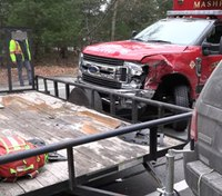 3 firefighters injured in Mass. ambulance crash