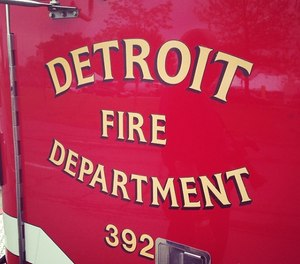 Detroit firefighters said they were shocked to find a baby inside a burning home after none of the adults outside had mentioned her.
