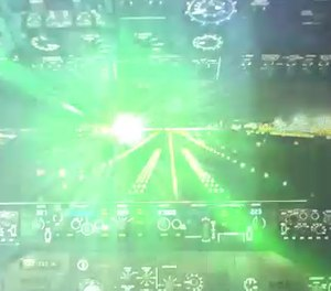 A Colorado paramedic was injured after a green laser beam was pointed at a Flight for Life aircraft, striking her eyes.