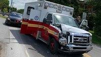 Stolen Pa. ambulance crashes after pursuit