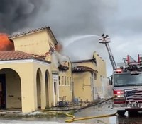 Fla. firefighter injured in fire at historic train station