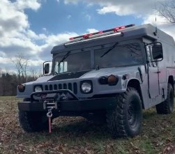 The London-Laurel County Rescue Squad's Humvee was stolen from outside of the squad's building.
