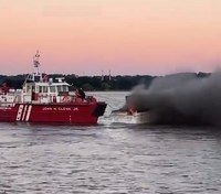 DC FF injured battling boat fire