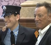 Video: Bruce Springsteen's son sworn in as firefighter