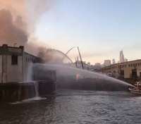 FF injured, engine damaged in massive San Francisco pier blaze