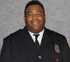 Jacksonville Fire Rescue Department Engineer Vincent Harper has been named Firefighter of the Year by American Legion after he and his partner Capt. Latorrence Norris were stabbed by a patient in October. Harper is credited with saving Norris' life during the attack. (Photo/Jacksonville Fire Rescue Department)