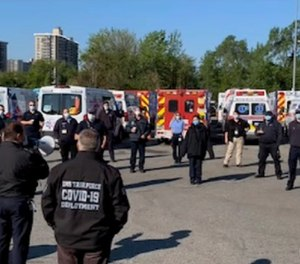 Among the many changes that came with COVID-19 was the way briefings were done for deployed EMS crews before each shift in New York. Providers stood outdoors as they were briefed on the newest information, procedures and