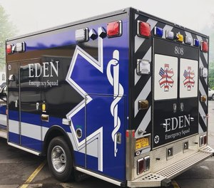 Dave Cole, a 50-year Eden Emergency & Rescue Squad volunteer, was saved by fellow Eden EMS members after going into cardiac arrest in March.