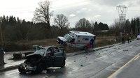 Paramedics injured, motorist killed in Wash. ambulance crash