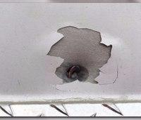 Ga. fire truck struck by stray bullet