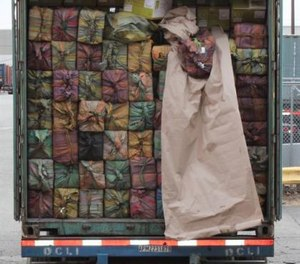 The cocaine was discovered on Feb. 28 during a container inspection in Newark and had a street value of an estimated $77 million (Photo/ U.S. Custom and Border Protection)