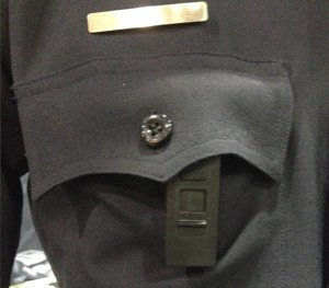 "The body camera is activated by what the company calls a ""mistake-free"" slide panel that uncovers the camera's lens and turns it on. (PoliceOne Photo)"
