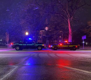 Photo of the Week: Cold night at the Logan County Courthouse