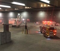 7 hurt after jet bridge collapses at Md. airport