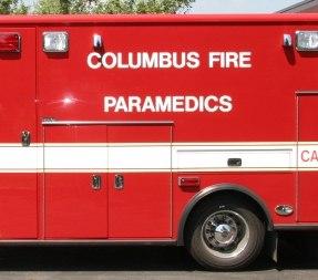 Two Columbus firefighter-medics were injured in an ambulance crash Wednesday night. (Photo/City of Columbus)