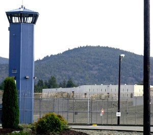 In this Dec. 7, 2001 file photo, Pelican Bay State Prison is seen outside of Crescent City, Calif.