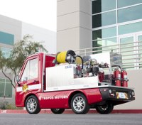 Compact electric fire truck concept unveiled by Panasonic, Tropos Motors