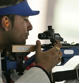 Pictured is competitive shooter Gagan Narang.