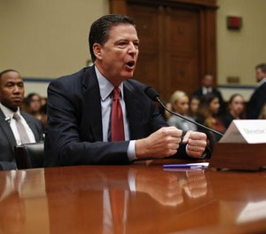 In this Sept. 28, 2016, file photo, FBI Director James Comey testifies on Capitol Hill in Washington.