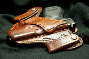 An inside the waistband concealment holster. (Photo/Wikipedia)