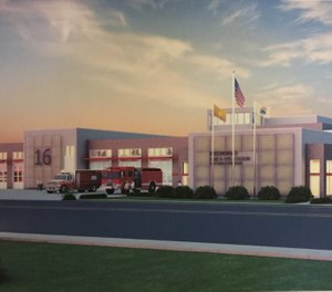 This concept image shows the design for the new Willingboro Fire Department's fire and EMS station. The department is expected to move into the new station early next year. (Photo/Willingboro Fire Department Facebook)
