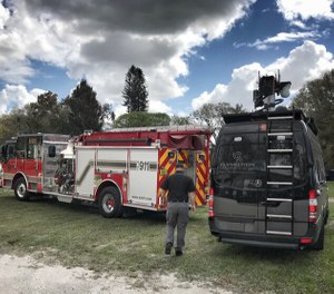 The SMFR Hazmat Team used drones to detect hazardous materials and relay its findings to first responders in real time. (image/DJI)