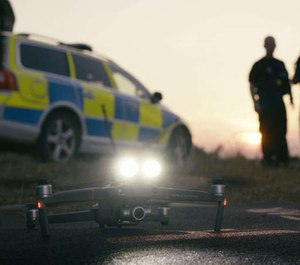 "While most drones are limited to providing officers an extra pair of eyes in the sky, the Mavic 2 Enterprise features an entirely new extended port that gives officers a new suite of ""superpowers."" (image/DJI)"