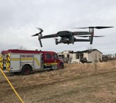 Detecting a fire with a compact thermal drone solution