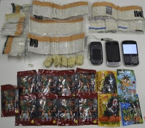 This file photo from March 2016 shows the kind of contraband commonly found in FCI Miami, a federal prison officials say has a dangerous contraband smuggling problem. (Photo/TNS)