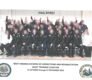 An entire class of West Virginia correctional officer cadets has been fired for participating in a Nazi salute in a class photo. (Photo/West Virginia Department of Military Affairs and Public Safety)