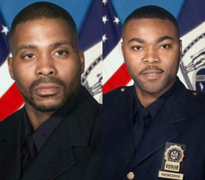Detectives Rodney Andrews (left) and James Nemorin. (NYPD Image)