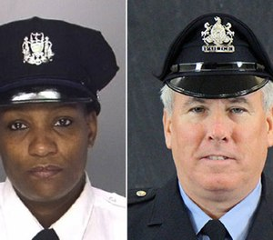 Sgt. Sylvia Young (left) and Officer Eddie Miller.