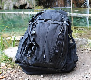 The COVRT 18 backpack in action.