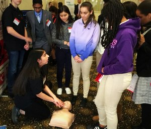 The High School Association of Medical Engineers and Scientists is seeking to get a law passed that requires minors to provide proof of CPR certification. (Photo/HAMES)
