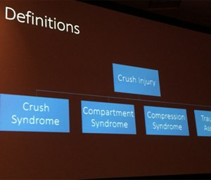 Crush syndrome is just one type of crush injury. (Photo/Greg Friese)